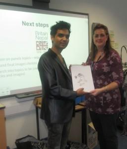 5 -- DeepakTamrakar (UKNFS Nepali International Arts Programme International Officer) after his presentation at Bournemouth & Poole College