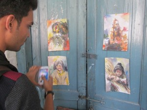 Deepak at LK with portrait studies