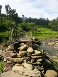 Nepal stream and bridge image