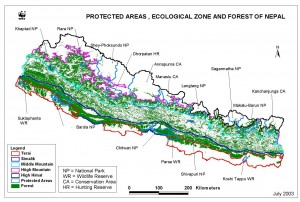 Protected areas and ecological zones
