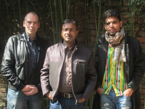 NIAP officers Alan Mercel-Sanca & Deepak Tamrakar with Umesh Sah