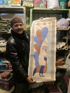 At Ajit Kumar Sah's Kathmandu Studio