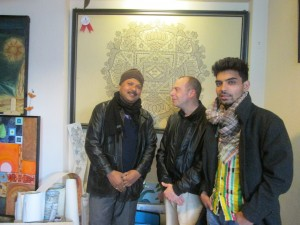 NIAP officers Alan Mercel-Sanca & Deepak Tamrakar meeting Ajit at his KTM studio